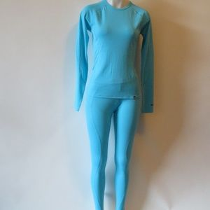 NWT NORTH FACE TWO-PIECE THERMAL TOP BOTTOM SM *